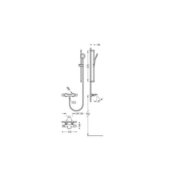 Kit Mamparas Para Baño:Kit de ducha y baño MAX de grifería TRES