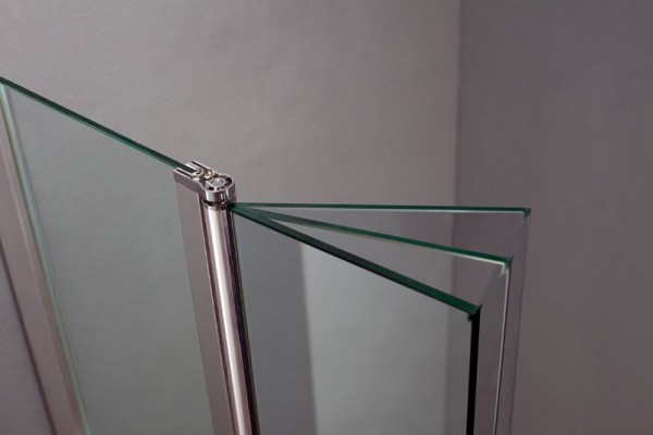 Mover Inodoro Baño Nuevo:Mampara cristal fijo + hoja abatible modelo SCREEN MOVING