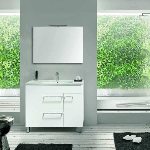 Mueble de ba o bilbao 70 mueble lavabo espejo luminaria - Muebles bano bilbao ...