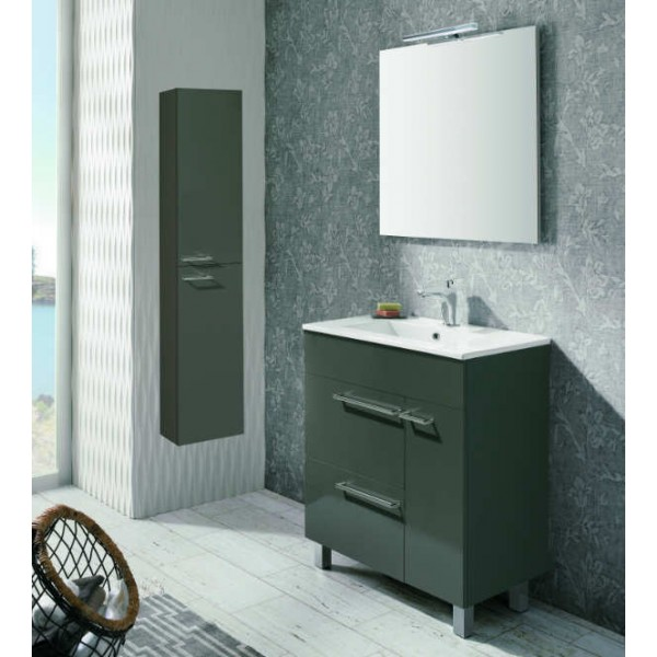 Gl Griferia Para Baño:Mueble de Baño BILBAO 60 Mueble + Lavabo + Espejo + Luminaria8