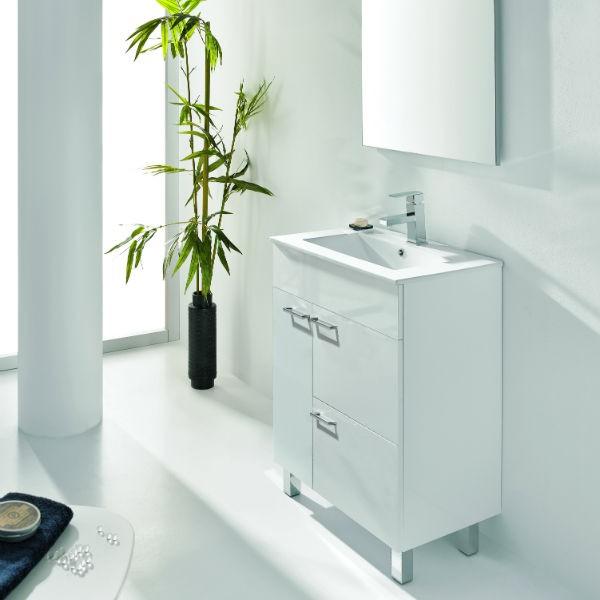 Mueble de Baño BILBAO 100 Mueble + Lavabo + Espejo + Luminaria