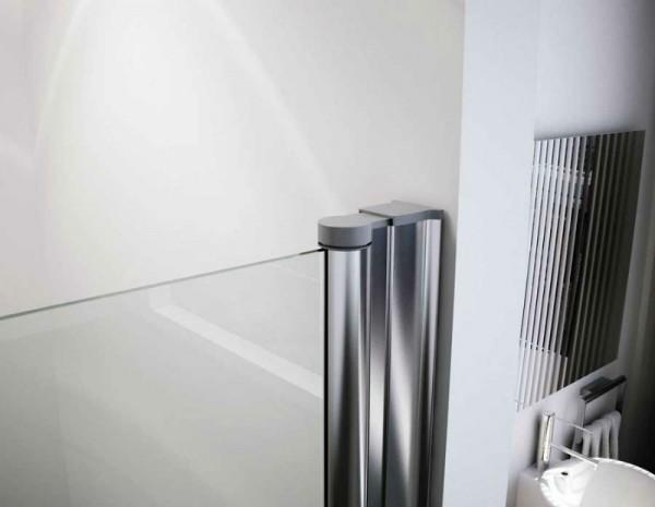 Gl Griferia Para Baño:Mampara ducha frontal 2 puertas abatibles a medida modelo ÉBANO
