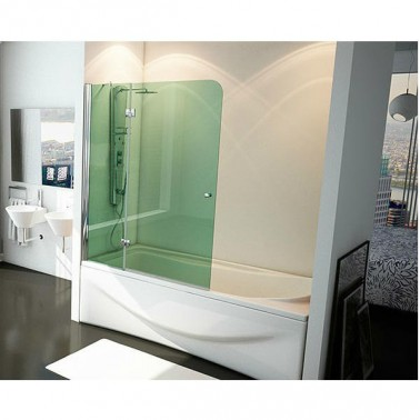 Mampara de bañera fijo + abatible TIBET