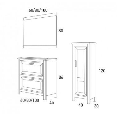 Mueble de baño Trento 60