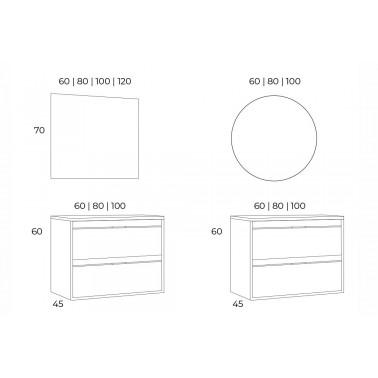 Mueble de Baño ETNA 60