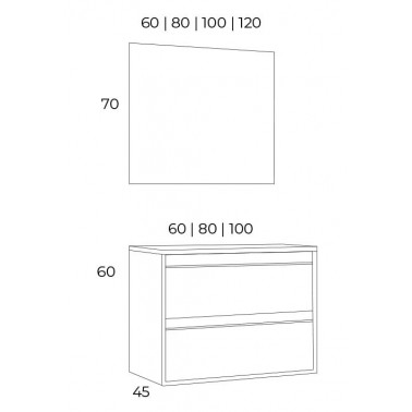 Mueble de Baño NASU 60