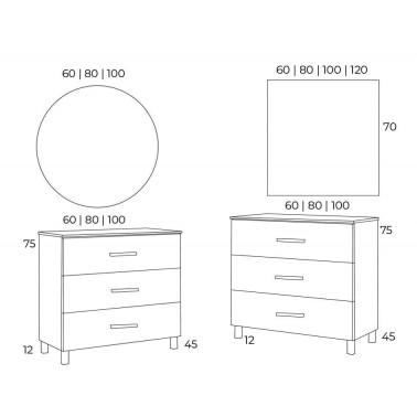 Mueble de Baño FUJI 80