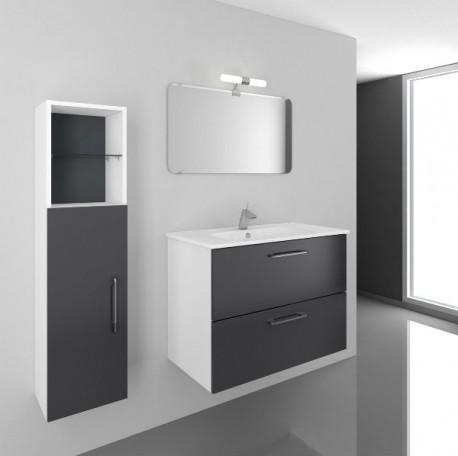 Mueble de Baño SMILE 80 cm Mueble + Lavabo + Espejo
