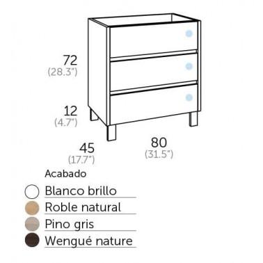 Mueble de Baño ESCORPIO 80