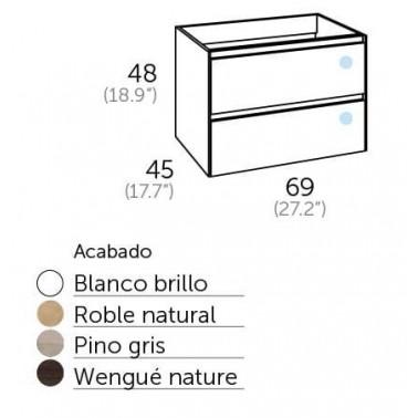 Mueble de Baño PRAGA 70 2C