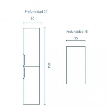 Mueble de Baño URBAN 60 2C suspendido