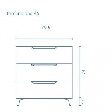 Mueble de Baño URBAN 80 3C con patas