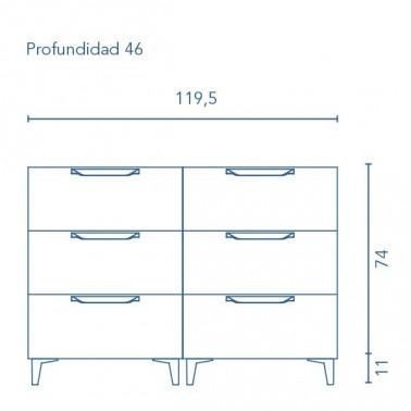 Mueble de Baño URBAN 120 6C con patas