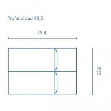 Mueble de Baño RONDA 80 2C
