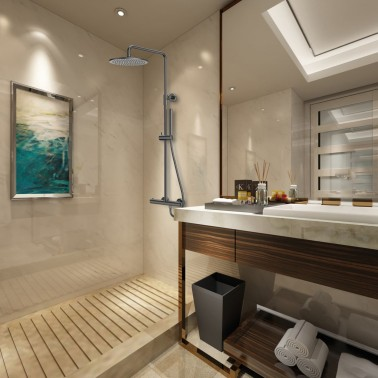 Conjunto de ducha ROUND ELITE TITANIO termostática
