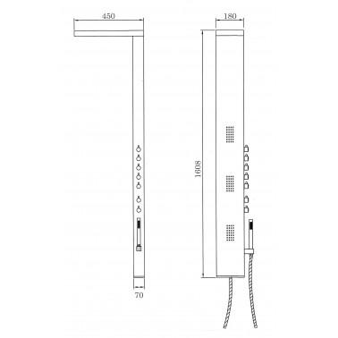 Columna de ducha NIAGARA monomando