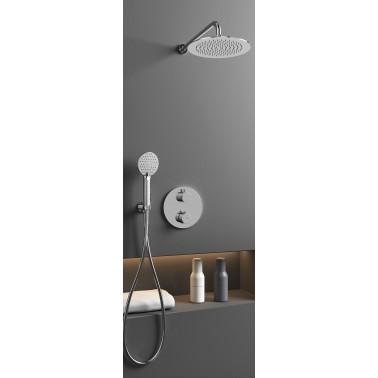 Conjunto de ducha empotrado ROUND CROMO termostático