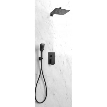 Conjunto de ducha empotrable ORION NEGRO monomando