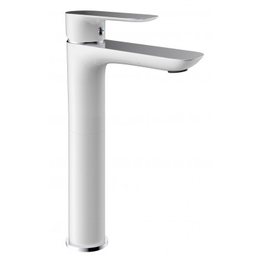 Grifo monomando lavabo CASSIO acabado CROMO/BLANCO