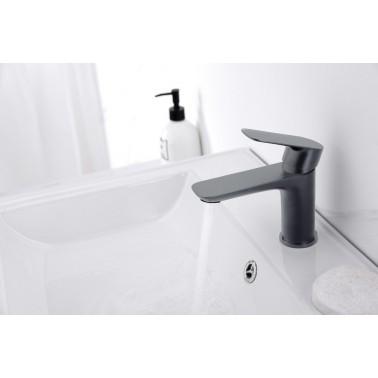 Grifo monomando lavabo CASSIO en titanio