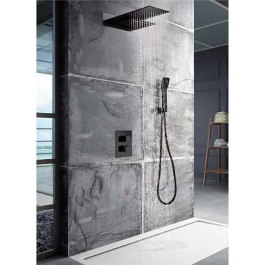 Conjunto de ducha termostática RODAS negro mate