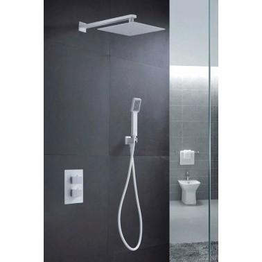 Conjunto empotrado ducha CIES BLANCO MATE termostático