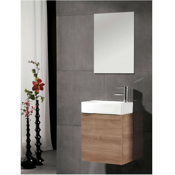 Mueble de ba o ibiza 45 cm mueble lavabo espejo - Mueble de bano madera ...