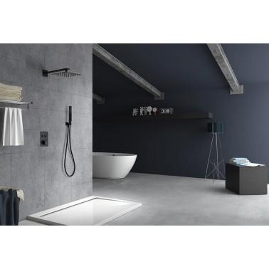 Conjunto de ducha empotrado PORTUGAL negro mate