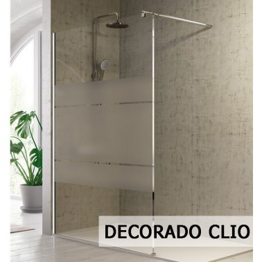 Mampara de ducha INOX fijo + corredera LIBERTY