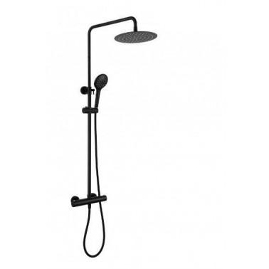 Conjunto de ducha modelo CASSIO NEGRO termostático