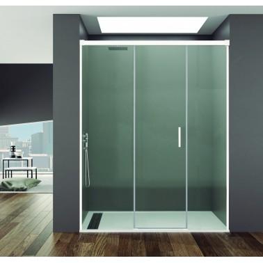 Mampara ducha fijo + puerta + fijo BASIC BLANCA
