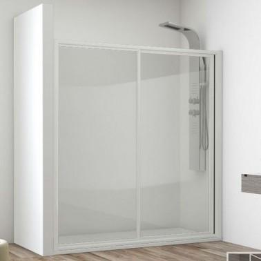 Mampara ducha fijo + corredera a medida CARES