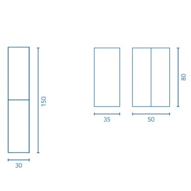 Mueble de Baño ALFA compact 80 2C