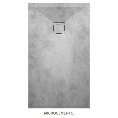Plato de ducha resina TAURO efecto cemento