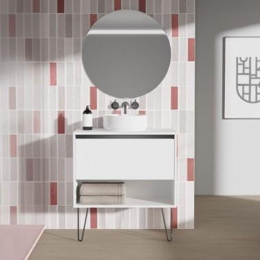 Mueble de baño con lavabo sobre encimera YOKO TOP de 80 cm