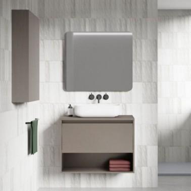 Mueble de baño con lavabo sobre encimera NIWA Top de 60 cm