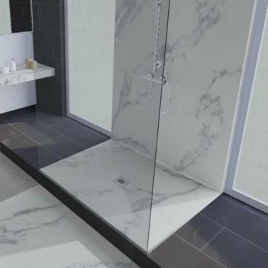 Plato de ducha de resina decorado mármol ALIKI