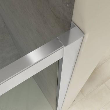Mampara ducha angular 2 fijos + 2 correderas ROMA