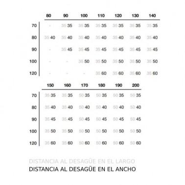 Plato de ducha de resina modelo BARCELONA
