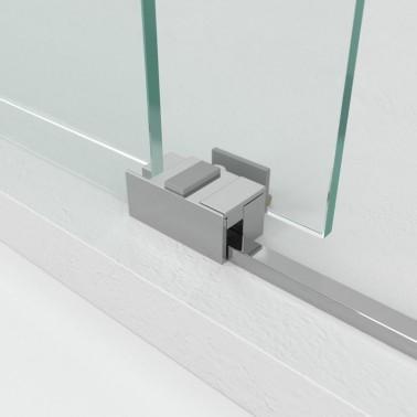 Mampara ducha fijo + corredera BASIC