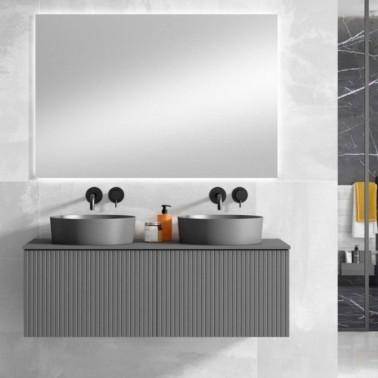 Mueble de baño BARI 120 2C con lavabo sobre encimera