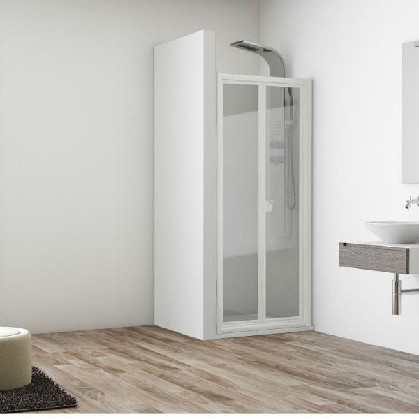 Mampara frontal acr lica puertas plegables a medida modelo - Mamparas ducha plegables ...