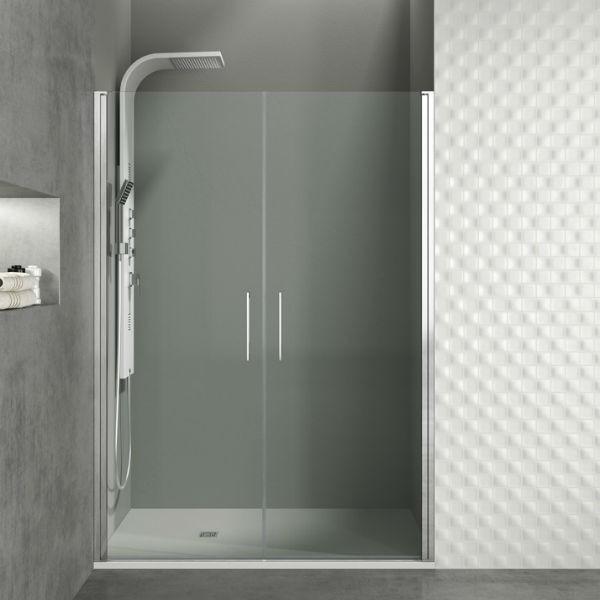Mampara de ducha modelo frontal con 2 puertas abatibles open - Mamparas abatibles para ducha ...