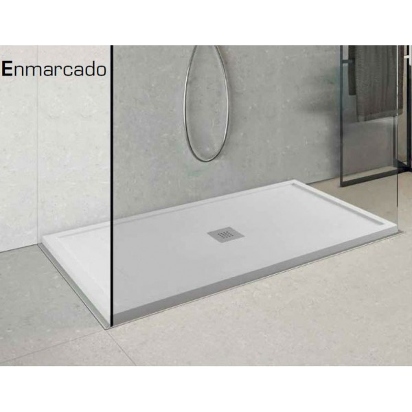 Plato de ducha de resina modelo marco disponible en 10 colores for Accesorios para platos de ducha