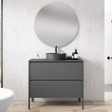Mueble de Baño ICON 80 2C con lavabo sobre enicimera