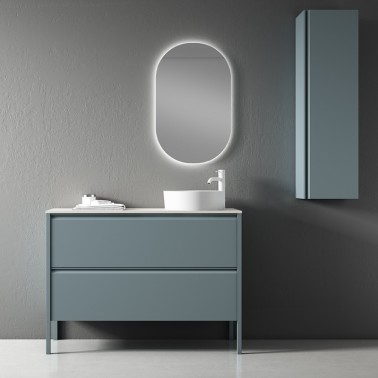 Mueble de Baño ICON 120 2C con lavabo sobre encimera