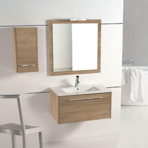 Mueble de Baño Online modelo Aroa acabado en roble