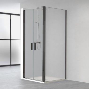 Mampara Ducha Angular 2 Puertas Abatibles + Lateral Fijo HADA PLUS
