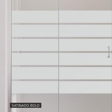 Mampara Ducha Frontal Fijo + Corredera MILAN