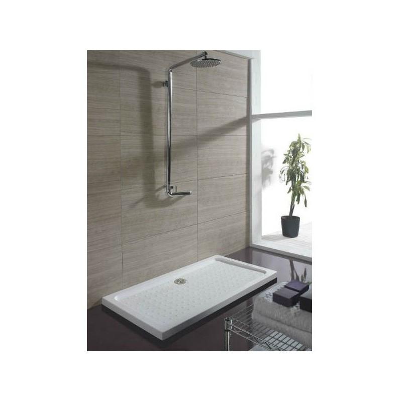 Plato de ducha acr lico rectangular 5 cm de altura en asealia for Plato ducha acrilico